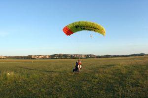 Saut en parachute atterrissage Pujaut